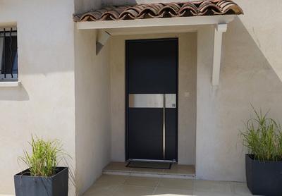 Porte Entree Aluminium comtemporainetest